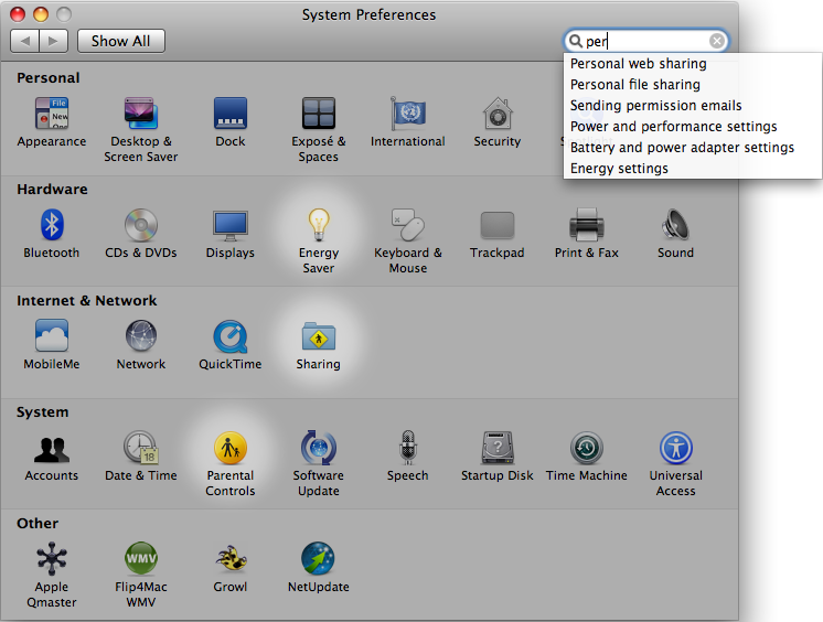 Mac OSX - System Preferences