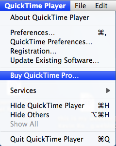 How to upgrade from QuickTime Player to QuickTime Pro