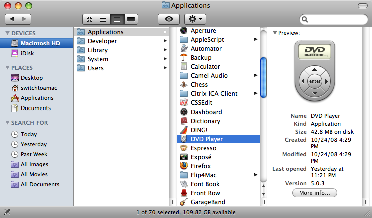 Application Contents - Switch To A Mac Guides