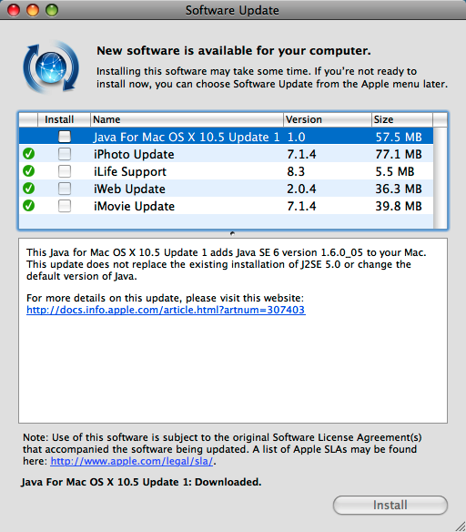 Java download mac os x 10.5 8
